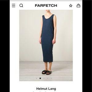 Helmut Lang Sleeveless Cotton Tank Dress